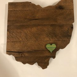 Streetwood Design Ohio with a heart Wood Sign Cutout Wall Art Decor Review