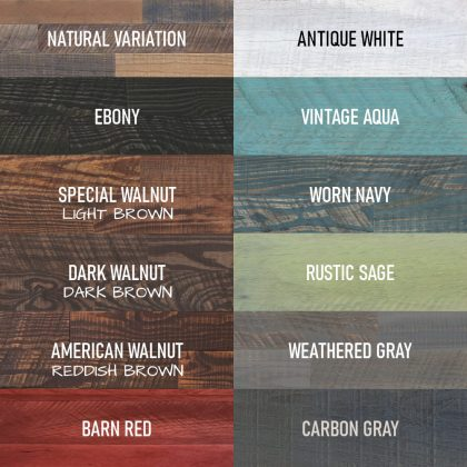 Streetwood Design Stain and Paint Colors
